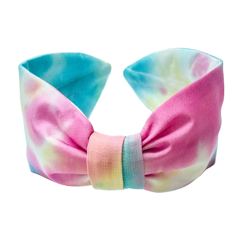 TIE & DYE KNOTTED HEADBAND - BLUE