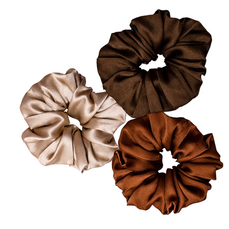 Neutral Scrunchies- I - Set of 3
