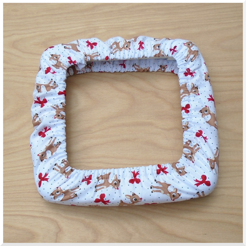 Rudolph with Bows Fabric
