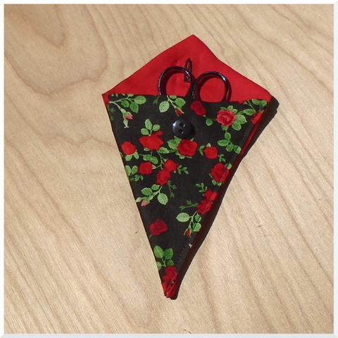 Red Roses Snips/Scissors Case - Scissors not included