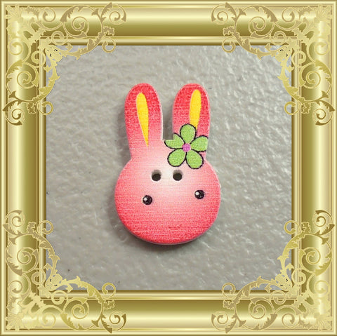 Bunny Cross Stitch Needle Minder - Red