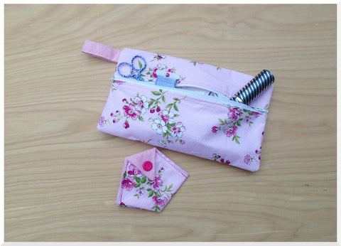Accessory Bag - Pink and Rose (Thread Catcher not included)
