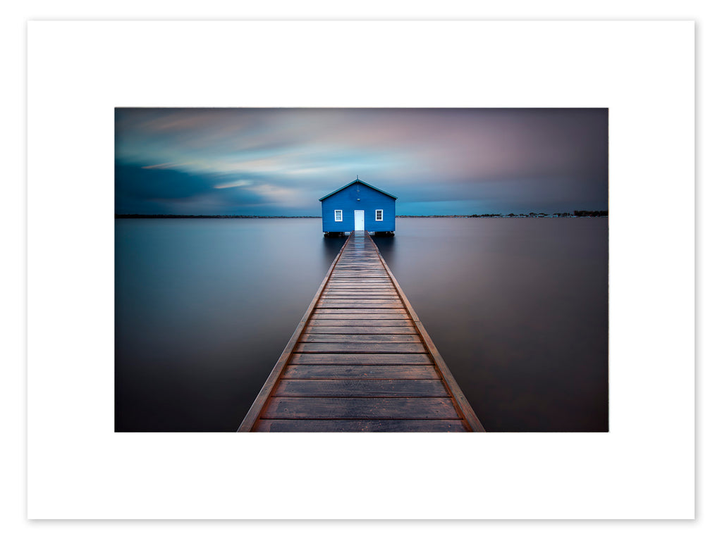 Boat Shed Mounted Print - MBM1008