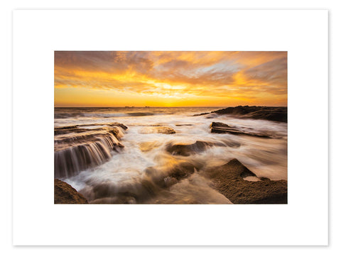 Burns Beach Sunset Mounted Print - BBM3011