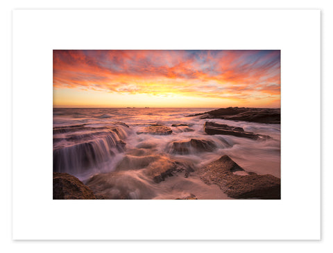 Burns Beach Sunset Mounted Print - BBM3010