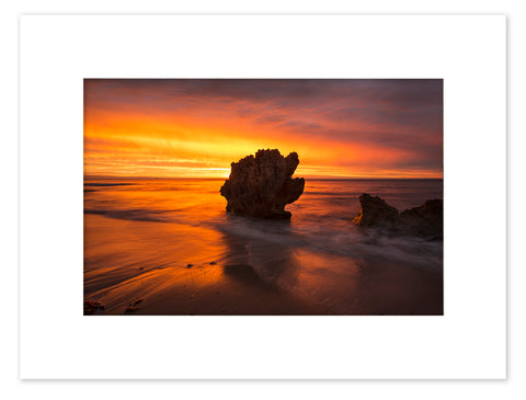 North Beach Sunset Mounted Print - NBM2026