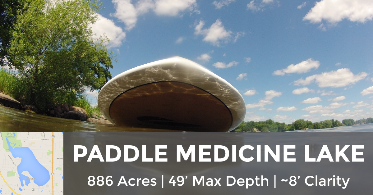 Medicine Lake - 886 Acres, 49' Max Depth, ~8' Clariity