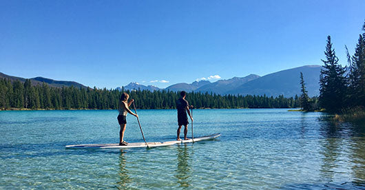 SUP on Edith Lake, Alberta