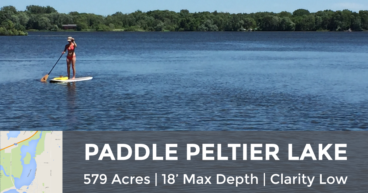 Peltier Lake - 579 Acres, 18' Max Depth, Low Clarity