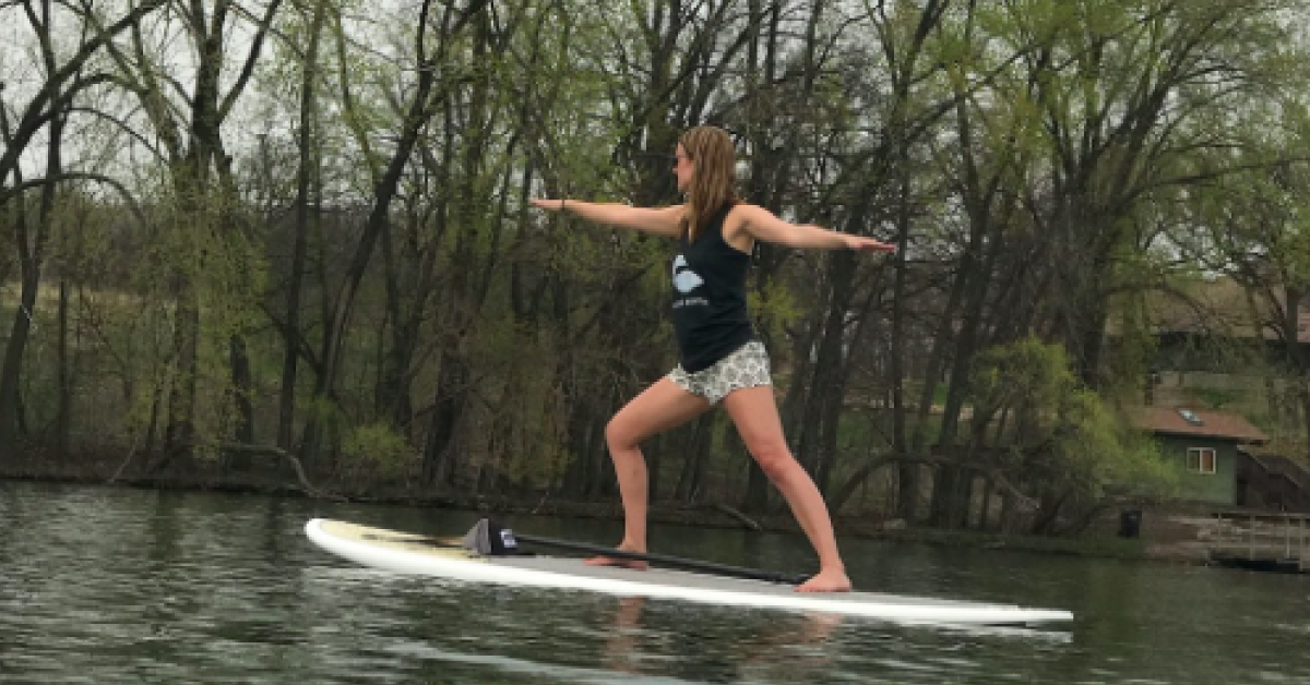 Yoga on a Paddle North Loon at Silver Lake