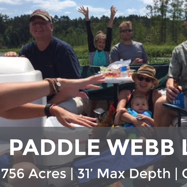 Webb Lake - 756 Acres, 31' Max Depth, Clarity ~4'