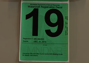 Minnesota DNR Watercraft Registration Decal