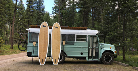 Fern the Bus and a couple Paddle North boards