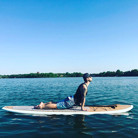 Paddle Board Yoga at Johanna Lake