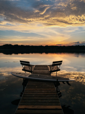 Sunset Dock on Valentine Lake