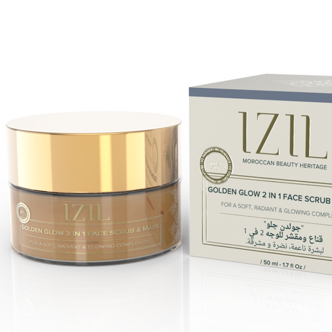 Izil Beauty - Organic Golden Glow 2 in 1 Face Scrub & Mask