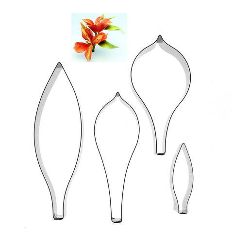 ALSTROEMERIA  Inc. LEAVES – 4 SET