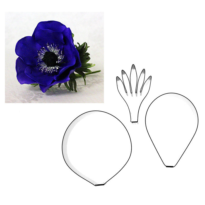 ANEMONE AND LEAF – 3 SET