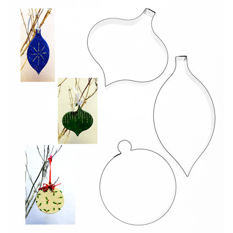 CHRISTMAS BAUBLE COOKIE CUTTERS