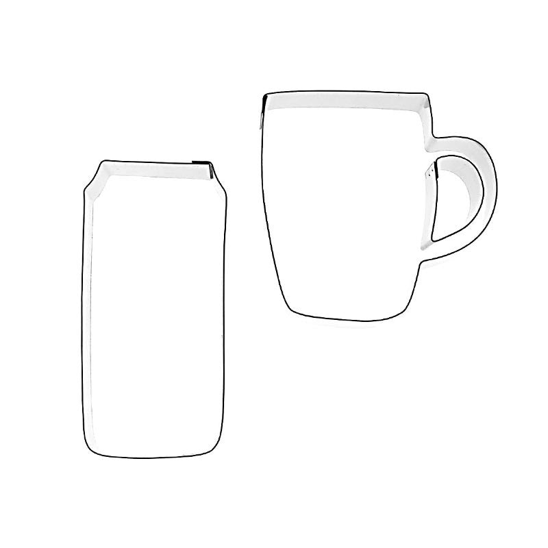 BEER CAN AND TANKARD – 2 SET