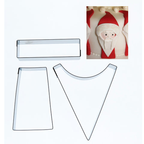 FATHER CHRISTMAS CUTTER – 3 SET