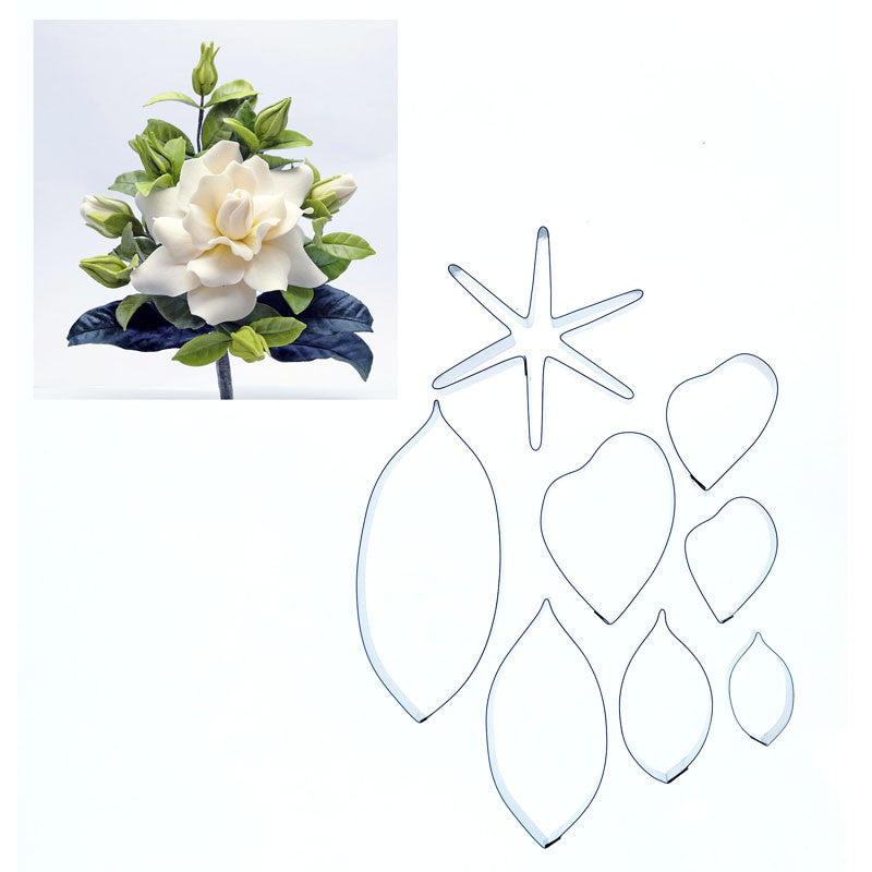 NADIA JOHNSON GARDENIA & LEAVES – 8 SET