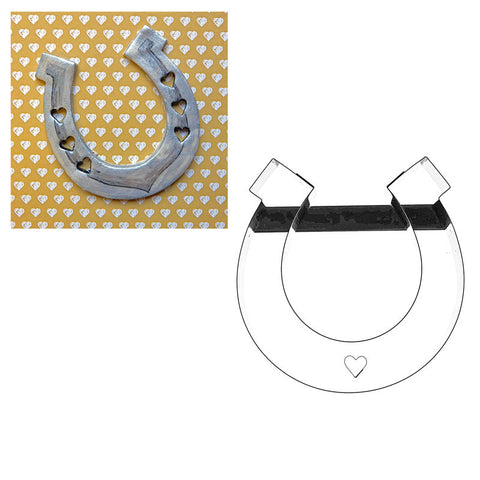 HORSESHOE COOKIE CUTTER WITH HEART