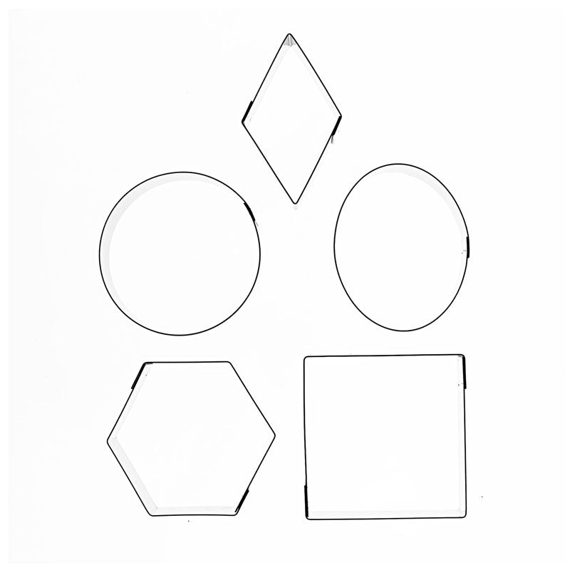 MIXED SHAPES (ROUND, SQUARE, OVAL, HEXAGON, DIAMOND) – 5 SET