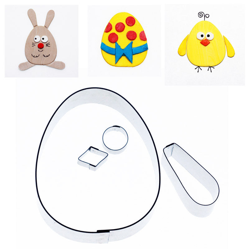 EGG/CHICK/BUNNY CUTTER SET OF 4