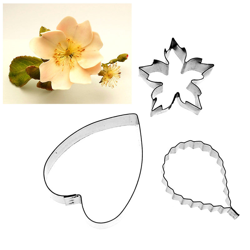 WILD DOG ROSE PETAL, CALYX AND LEAF SET