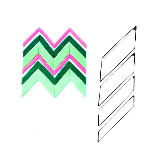 PATTERN RETRO ZIG ZAG SET 4 SHAPE 3