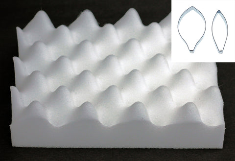 FOAM PAD FOR DRYING SUGARCRAFT FLOWERS AND LEAVES AND LILY CUTTER SET