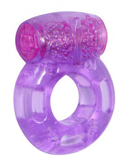 Purple Orgasmic Vibrating Cockring freeshipping - JOY TOYS