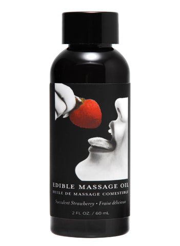 2 Ounce Edible Massage Oil- Strawberry