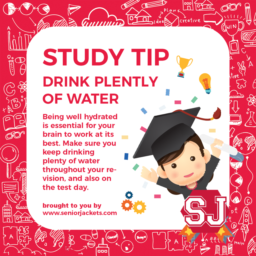 Senior Jackets Study Tips: Drink Plenty of Water