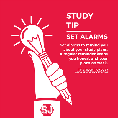 Senior Jackets Study Tips: Alarm Reminders