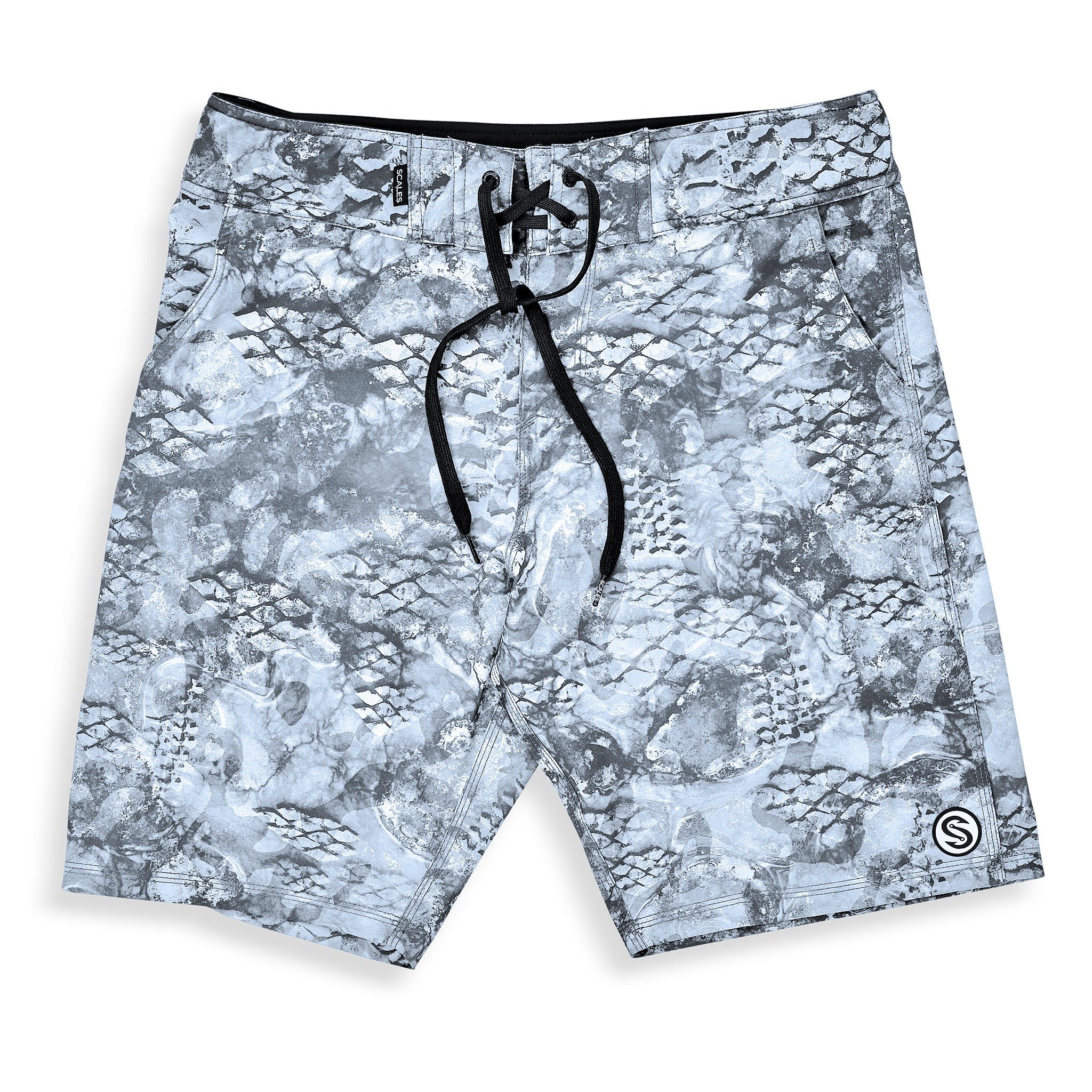 First Mates Board Shorts Grey Front