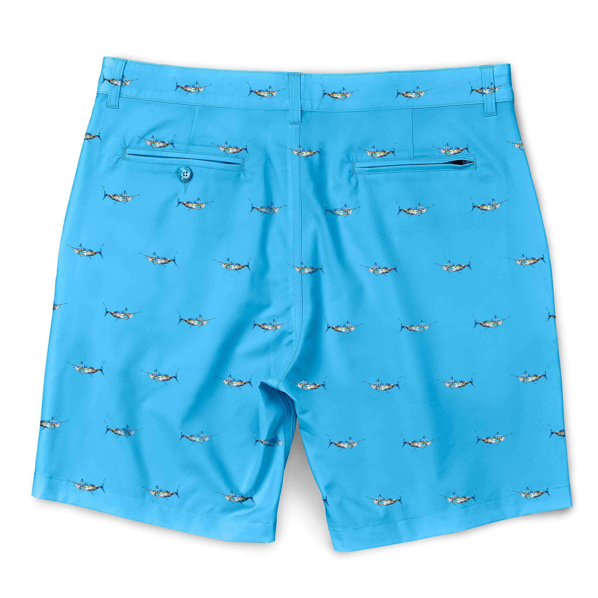 Tropical Marlin Walkshorts Powder Blue Back