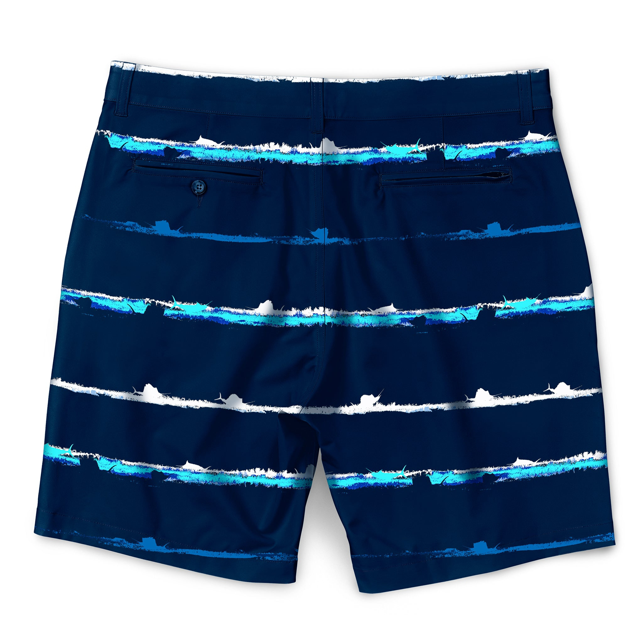 Striker Stripes Walkshorts Navy Back