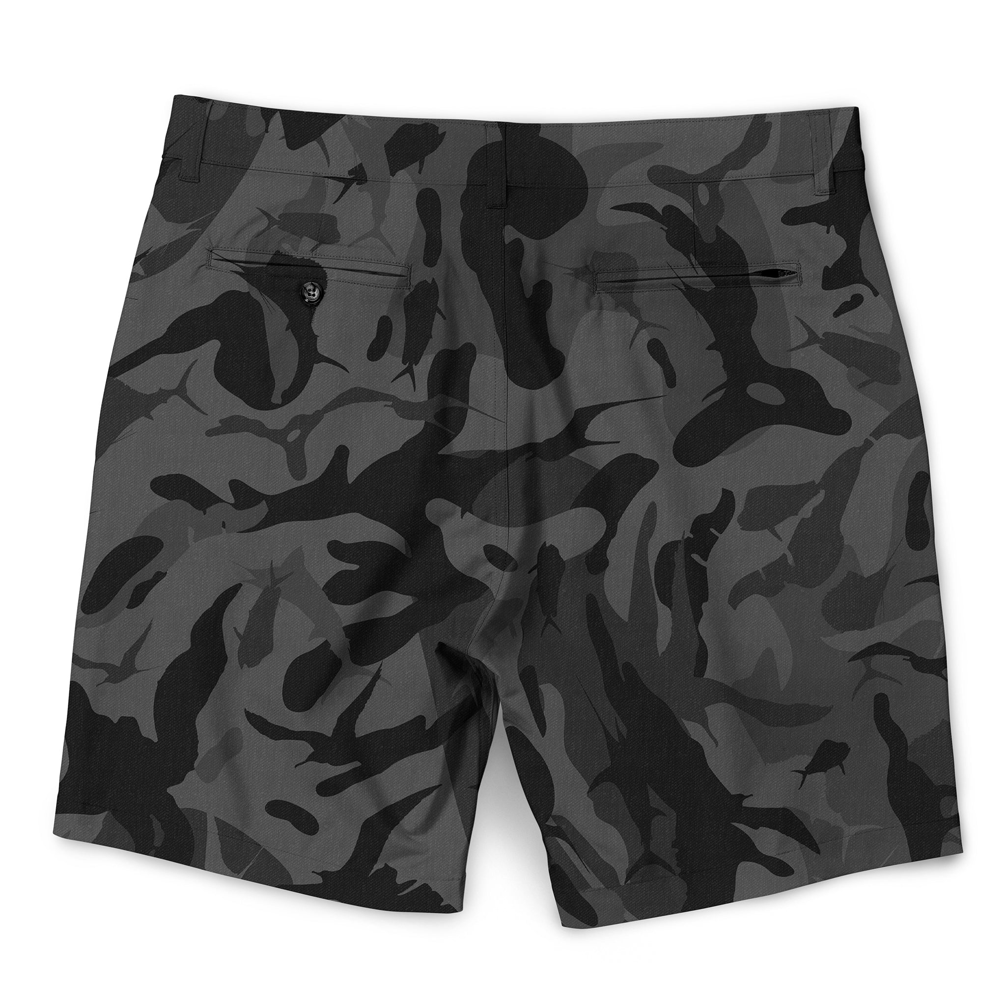 Frigate Camo Walkshorts Black Camo Back