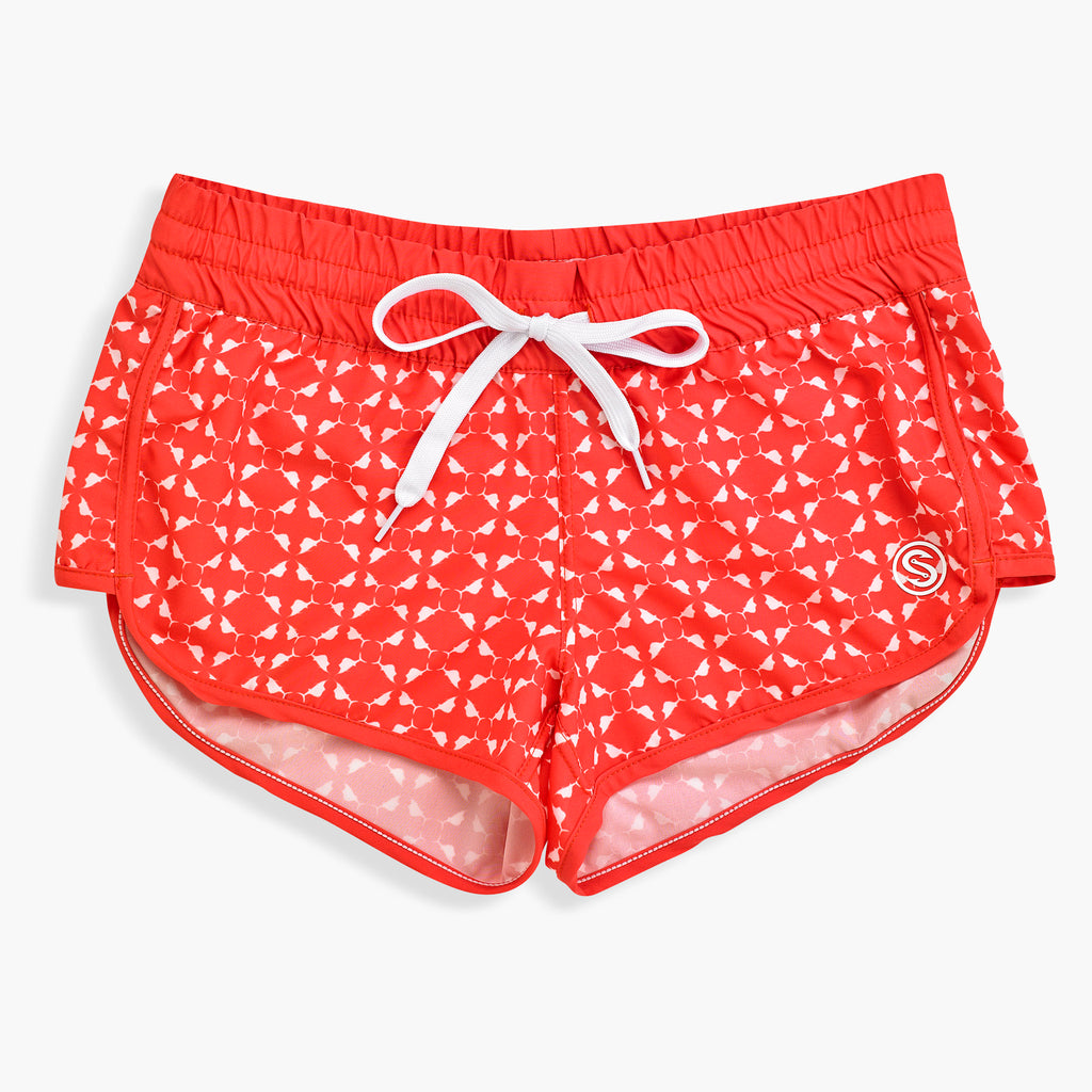 Nautical Sailfish Coral  Womens Boardshort