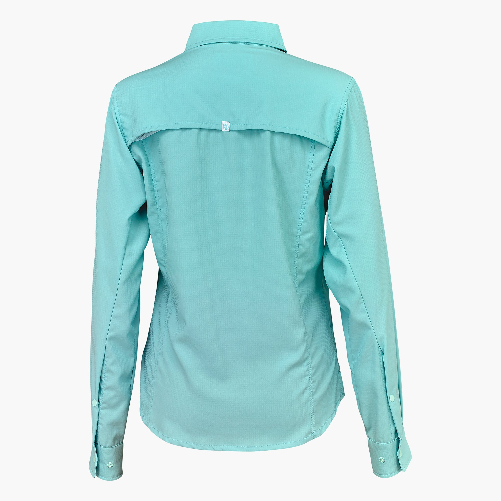 Slack Tide Womens Performance Guide Shirt White Aruba Blue