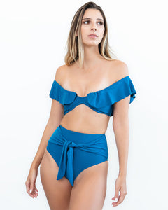 Dark Blue Magic High Waist Bikini