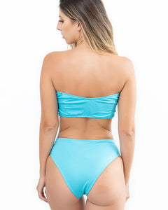 Fresh Blue Bow High Waist Bikini