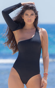 Black monokini from spring madness collection front view