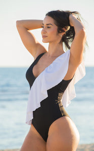 Salitre swimsuit black and white