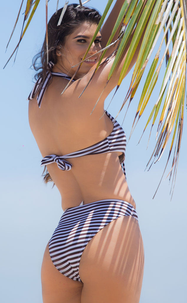 Striped swimsuit by salitre swimwear