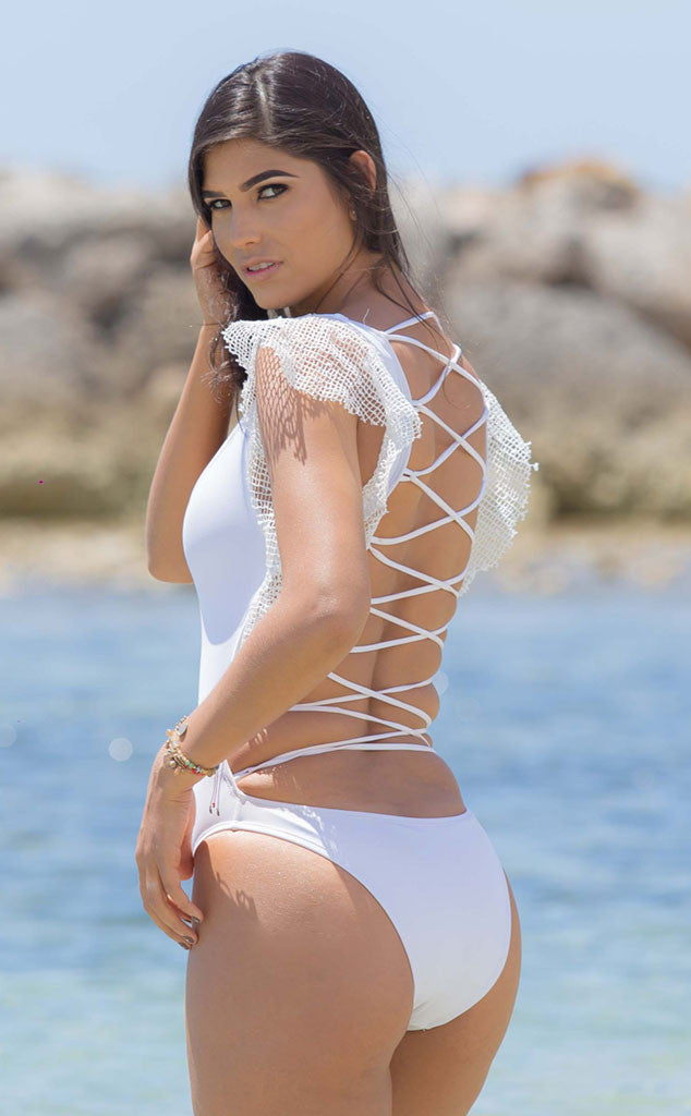 White swimsuit back Take a Break by Salitre Swimwear