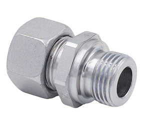 Metric Compression x BSPP Metallic Sealing Edge Straight Male Stud