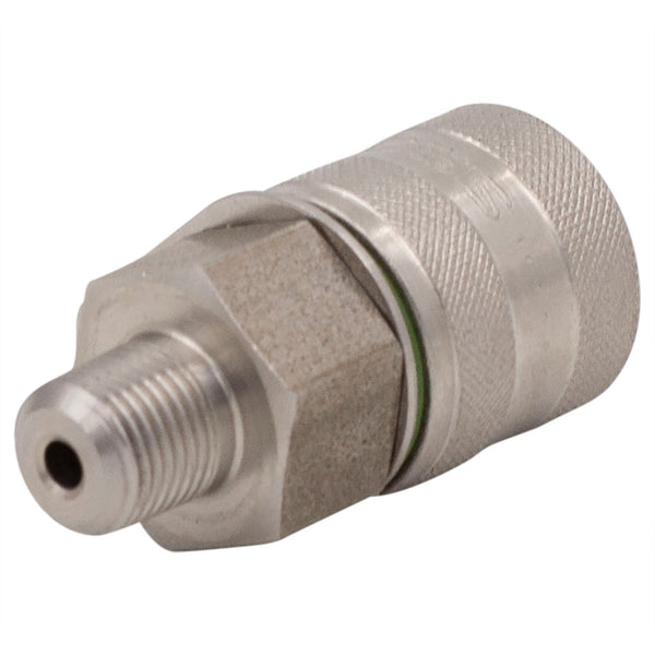 "M16x2 X 1/8"" NPT Test Port Adapter 316 Stainless Steel"